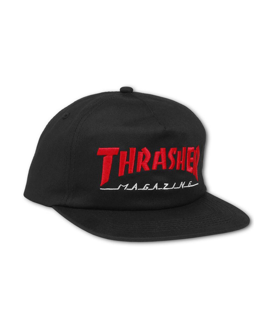 37c413832b4 HATS- THRASHER MAGAZINE LOGO TWO-TONE HAT BLACK RED - www.colorskates.com