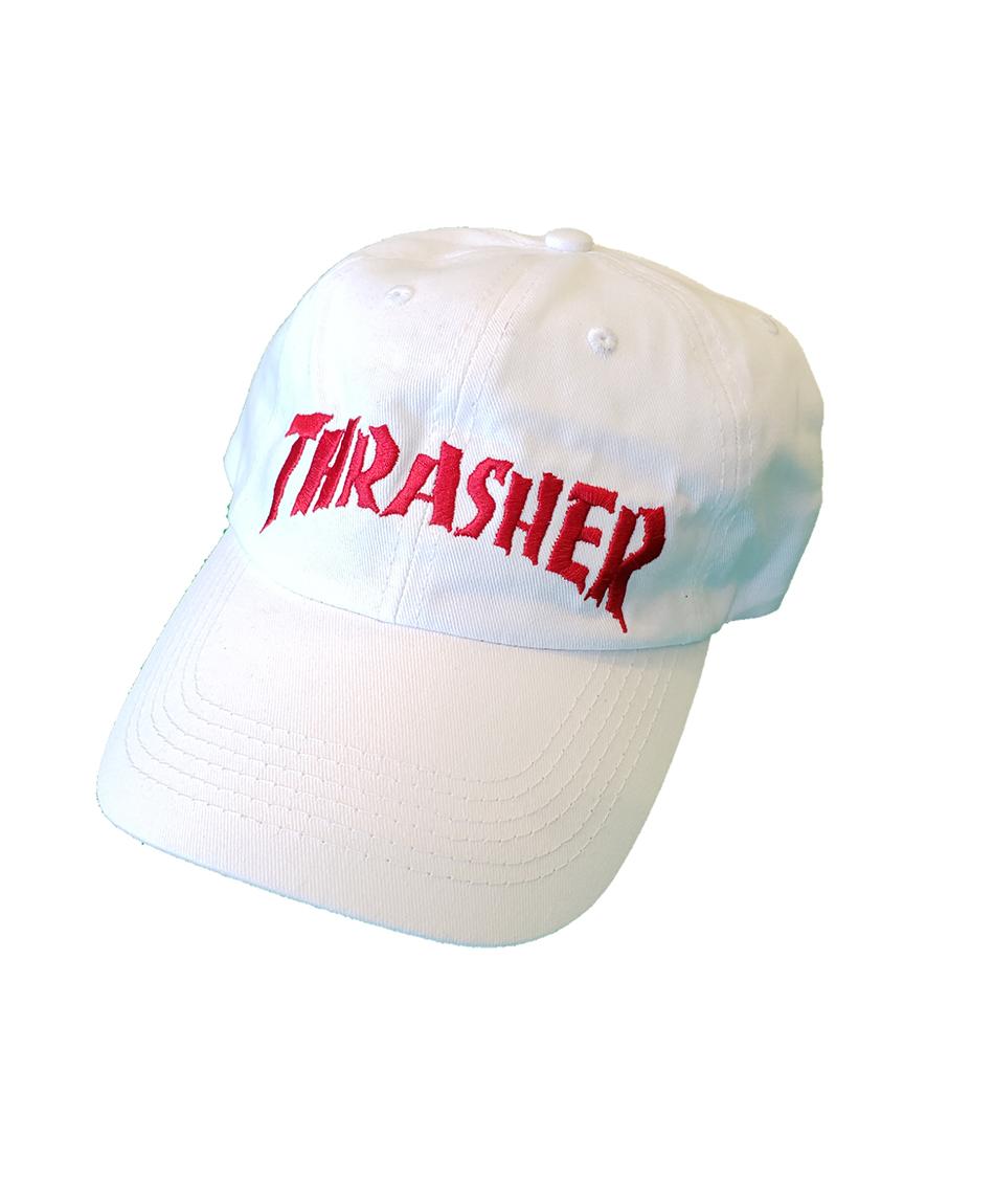 b88a2f6ffab THRASHER NECKFACE INVERT OLD TIMER HAT WHITE