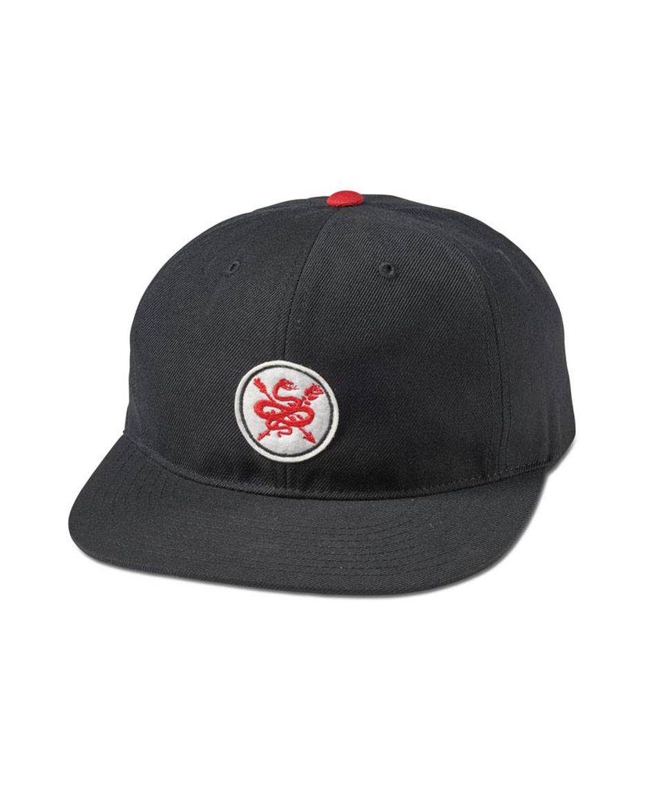 5c22079e054 PRIMITIVE SERPENT SNAPBACK HAT BLACK RED