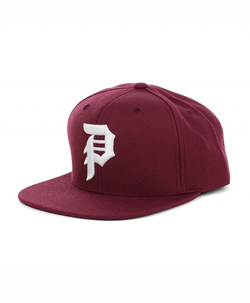 3b1469b7e29 PRIMITIVE DIRTY P SNAPBACK HAT BURGUNDY